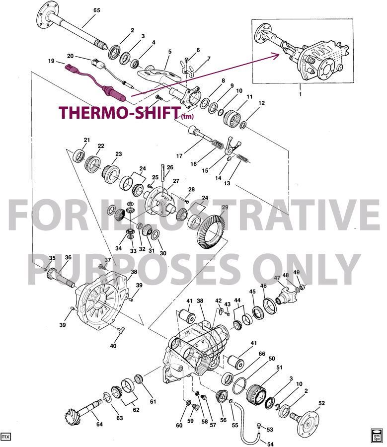 Thermotion 15569735 15588373 Thermo Shift Actuator For Gmc